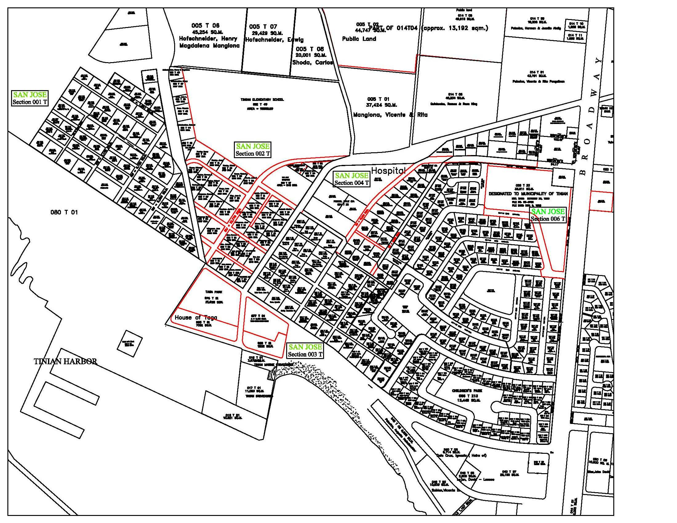 tinian village maps